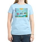 Bird Family Collage Art Women's Light T-Shirt