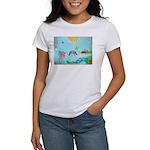Bird Family Collage Art Women's T-Shirt