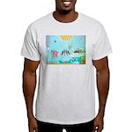 Bird Family Collage Art Light T-Shirt