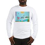 Bird Family Collage Art Long Sleeve T-Shirt