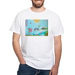 Bird Family Collage Art White T-Shirt