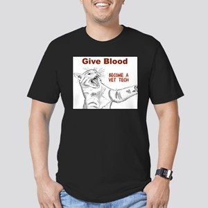 Give Blood tech Men's Fitted T-Shirt (dark)