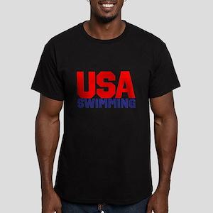 Team USA Men's Fitted T-Shirt (dark)