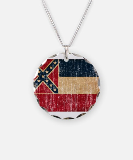 Mississippi Flag Necklace