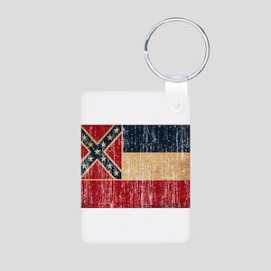 Mississippi Flag Aluminum Photo Keychain