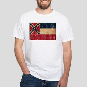 Mississippi Flag White T-Shirt