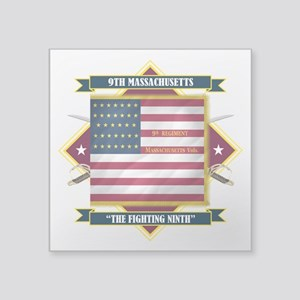 """9th Massachusetts (Diamond) Square Sticker 3"""""""