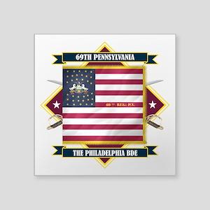 """69th Pennsylvania (Diamond) Square Sticker 3"""""""
