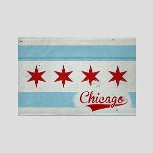 Vintage Chicago Flag Design Rectangle Magnet