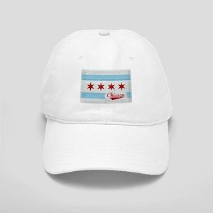 Vintage Chicago Flag Design Cap