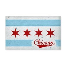 Vintage Chicago Flag Design Wall Decal