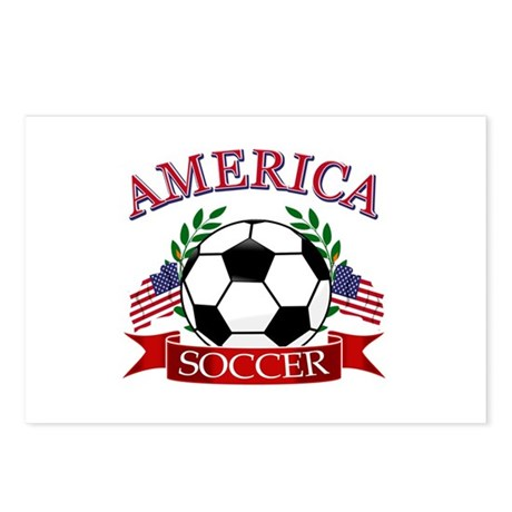 America football designs Postcards (Package of 8)