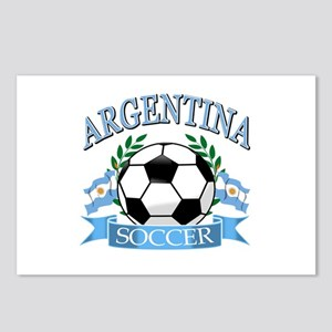 Argentina Soccer designs Postcards (Package of 8)