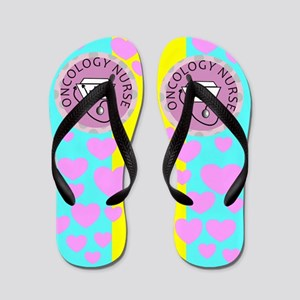 oncology nurse 3 Flip Flops
