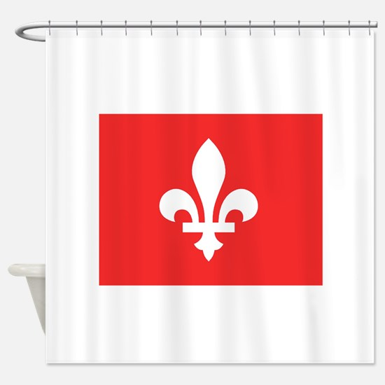 Red Square Lys Carre Rouge Shower Curtain