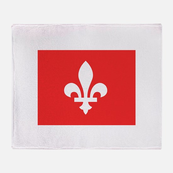 Red Square Lys Carre Rouge Throw Blanket