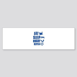 Eat Sleep Rugby Sticker (Bumper)