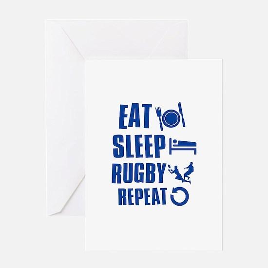 Eat Sleep Rugby Greeting Card