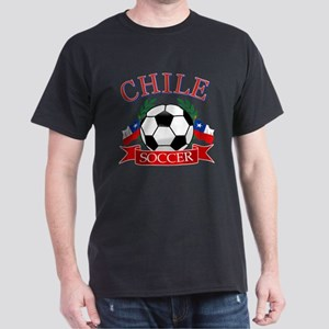 Chile Soccer designs Dark T-Shirt