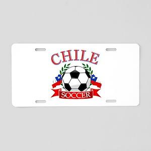 Chile Soccer designs Aluminum License Plate