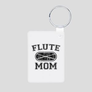 Flute Mom Aluminum Photo Keychain