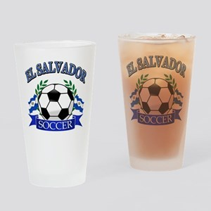 El Salvador Soccer designs Drinking Glass