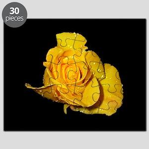 Yellow Rose Dew Drop Puzzle
