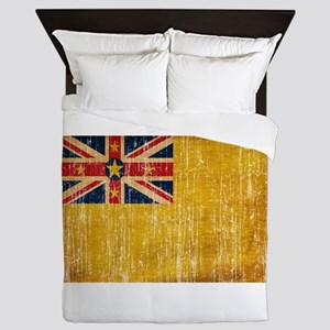 Niue Flag Queen Duvet