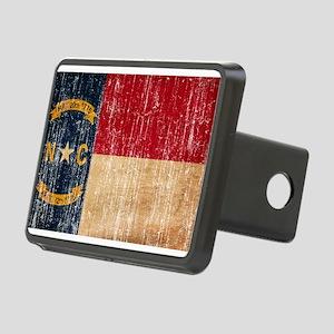 North Carolina Flag Rectangular Hitch Cover