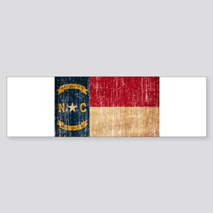 North Carolina Flag Sticker (Bumper)