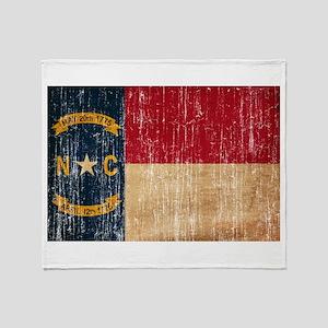 North Carolina Flag Throw Blanket