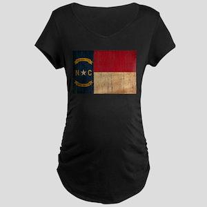 North Carolina Flag Maternity Dark T-Shirt