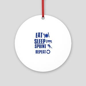 Eat Sleep Sprint Ornament (Round)