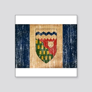 """Northwest Territories Flag Square Sticker 3"""" x 3"""""""