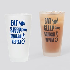 Eat Sleep Squash Drinking Glass