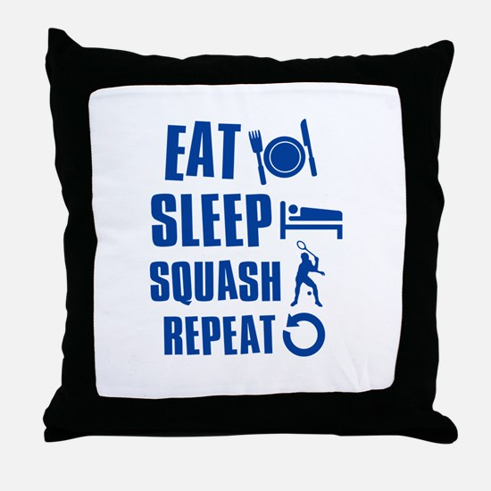 Eat Sleep Squash Throw Pillow