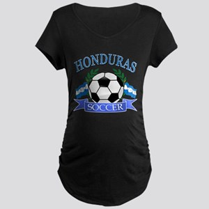 Honduras Soccer designs Maternity Dark T-Shirt