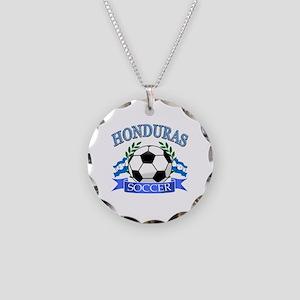 Honduras Soccer designs Necklace Circle Charm