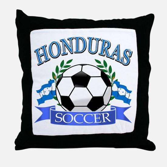 Honduras Soccer designs Throw Pillow