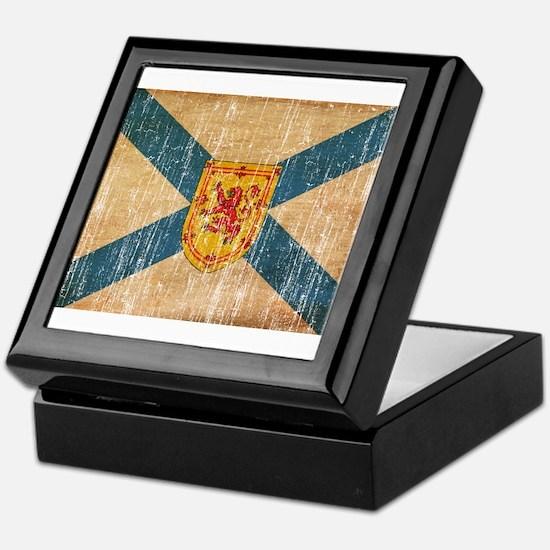 """Nova Scotia Flag Keepsake Box"