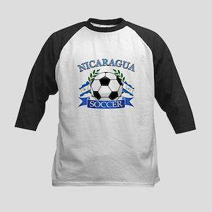 Nicaragua Soccer designs Kids Baseball Jersey