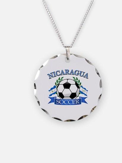 Nicaragua Soccer designs Necklace