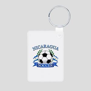 Nicaragua Soccer designs Aluminum Photo Keychain