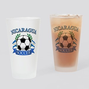 Nicaragua Soccer designs Drinking Glass