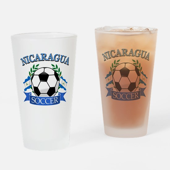Nicaragua Soccer designs Drinking Glass