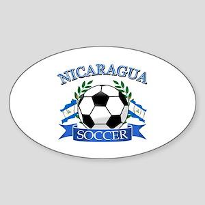 Nicaragua Soccer designs Sticker (Oval)