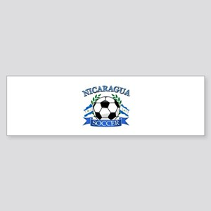 Nicaragua Soccer designs Sticker (Bumper)