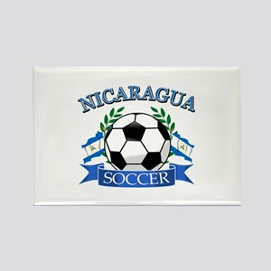 Nicaragua Soccer designs Rectangle Magnet