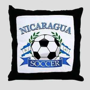 Nicaragua Soccer designs Throw Pillow