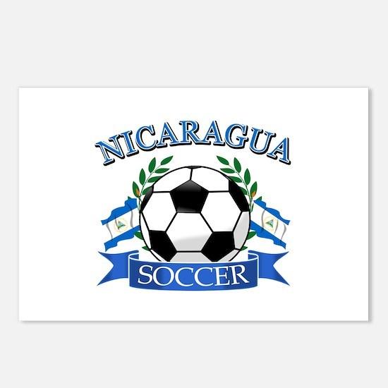 Nicaragua Soccer designs Postcards (Package of 8)